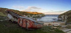 Early morning at North Landing - Flamborough (Katybun of Beverley) Tags: beach boats cliffs coastline eastcoast eastyorkshire flamborough yorkshirecoast
