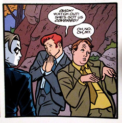 Conan O'Brien and Andy Richter as Henchmen - Madman Comics 3234 (Brechtbug) Tags: show from city red horse irish orange man men art mike andy face by night dark comics hair logo frank book cow high team funny comedy artist comic skin o head brian einstein talk funnies lick snap 1999 pale redhead host coco blank obrien comicbook late tall mad richter 13 legend madman nite cowlick 1990s tundra 90s brien pasty standup conan allred henchmen pallid