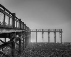 Fade to grey (Singing With Light) Tags: morning 2 beach fog photography pier gulf pentax january february k3 2014 ctwinter gulfbeach miilford singingwithlight singingwithlightphotography