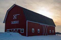 Strayer Barn (ramseybuckeye) Tags: life county winter ohio red snow art barn allen pentax farm trail agriculture defiance strayer k30 vision:text=0525 vision:sky=0532