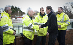 David Cameron visits Upton Upon Severn (The Prime Minister's Office) Tags: uk london pm floods primeminister downingstreet no10 davidcameron uptonuponsevern primeministerdavidcameron
