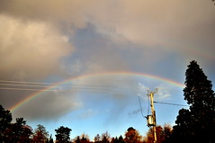 Rainbow (Dave McGlinchey) Tags: rain clouds rainbow bow atmospheric cloudscapes optic