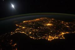 Iberia (europeanspaceagency) Tags: barcelona madrid portugal spain gibraltar iss iberia earthfromspace