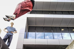 Flying (ii) (norm_p) Tags: urban flying jump jumping freerunning canberra parkour woden