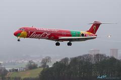 OY-RUE MD-83 Danish Air Transport (kw2p) Tags: world cup fifa coke cocacola worldcup mcdonnelldouglas md83 glasgowairport dc983 egpf danishairtransport egpfgla fifaworldcuptrophytour oyrue aircraftspeciallivery