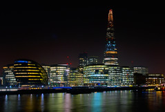 More London Night (c.clive) Tags: city london water thames night more shard