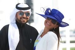 Jaguar Style Stakes | 2014 Dubai World Cup (jaguarmena) Tags: horse hat fashion race dubai style grace jaguar equestrian horserace elegance beautifuldresses meydan bestdressedcouple fascinator dubaiworldcup elegantlady bestdressedman brucerobertson jaguarstylestakes creativehat smartsuits jaguarmena stakesbestdressedlady dubaiworldcup2014 jaguarftypeconvertible