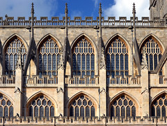 Bath Abbey (albireo 2006) Tags: uk greatbritain windows wallpaper england abbey bath unitedkingdom background gothic somerset gothicarchitecture bathabbey flyingbuttress buttresses gothicarches