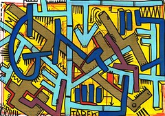 G by Tarek (Pegasus & Co) Tags: urban streetart art colors painting graffiti artwork stencil paste arts picture dessin peinture menatwork worldwide rue couleur artistes  urbain tarek    gomtrique  geometrik urbart artistical       menatworkgirl