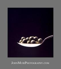 Peas and Spoon_Grey_LOGO (_JohnMuir) Tags: green silver flash spoon hasselblad peas ektachrome johnmuir johnmuirphotographycom