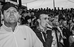The moment of relegation. Bristol Rovers v Mansfield Town football (sophie_merlo) Tags: street bw news blancoynegro sports sport bristol football 2000 noir noiretblanc candid negro crowd streetphotography photojournalism documentary nb bn relegation mansfieldtown bristolrovers