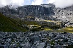 Gertrude Saddle, Milford Road, Fiordland, NZ (flyingkiwigirl) Tags: lake black mountains rock lily walk cook mount sound daisy rod wren milford gertrude saddle tramp