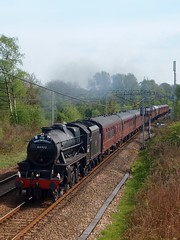 44932 Working 1Z71 At Standish, (Renault Captur Keeper) Tags: black train britain 5 great loco junction class steam locomotive express passenger coal vii wigan fired lms standish wcml stanier 44932 1z71