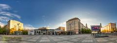 Kino Kosmos (Nachtwchter) Tags: panorama cinema berlin kino friedrichshain dri hdr kosmos karlmarxallee stalinbauten frankfurtertor tonemapping