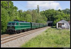 NMBS 2005 - TSP rit 155 (Onoz-Spy) (Spoorpunt.nl) Tags: 2005 groen tunnel spy 24 mei 20 rit m2 tsp 155 144 2014 lijn nmbs reeks vaarwel 18401 onoz hle rijtuigen fotostop