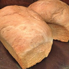 "Two loaves of Farmhouse Brioche are cooling on the kitchen counter and the whole house smells amazing. Now, what should I make for dessert?  #baking #bread • <a style=""font-size:0.8em;"" href=""http://www.flickr.com/photos/54958436@N05/16173109657/"" target=""_blank"">View on Flickr</a>"