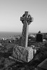weatherd celtic cross (aluke45) Tags: wales blackwhite nikon cross great celtic llandudno orme weatherd cematery d7100