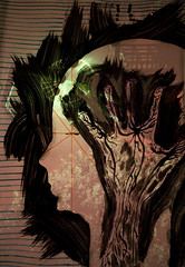 state of mind II (Andi [アンデイ]) Tags: light art face set backlight painting landscape artwork hand state cole structure mining mind heads zeche stahlromantik zechenromantik
