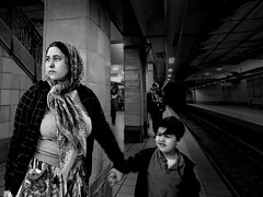Madonna with child@subway.ath.gr (Tilemachos Papadopoulos) Tags: street urban metro athens greece sybway qoq m43 mft mirrorless