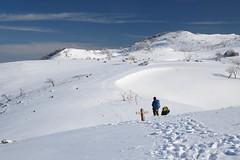 続く足跡 (deep.deepblue) Tags: nikon 日本 山 冬 風景 d610 滋賀県 霊仙山 米原市