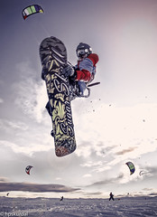 Flying High Again (hpskurdal) Tags: snow sports norway fun glasses flying high jump freestyle air 14 kiteboarding again snowboard mm grab kiting filip enthusiasts d810 bergsj bergsjstlen hpskurdal coxner kiteskolen