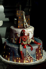 Spiderman cake - in a cukrarna in Decin (gornabanja) Tags: cake cool nikon comic d70 sweet spiderman bakery superhero czechrepublic baked cukrarna