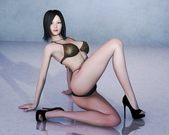 Mieko (Jotaerre3D) Tags: sexy female asian highheels indoors 3dart pinup 3dcgi daz3d jrsangels