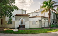 French City Village (1925-26), view07, 1000 block, Hardee Rd, Coral Gables, FL, USA (lumierefl) Tags: 1920s usa house building home architecture unitedstates florida miami south northamerica fl southeast 20thcentury residential coralgables subtropics miamidadecounty frenchcityvillage