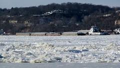 Mississippi River,Alton Ill. 2/18/15 (Bill Steffen) Tags: frozen mississippiriver alton
