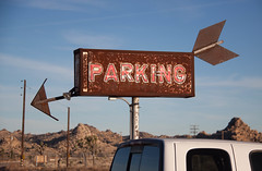 Old Parking Sign - Yucca Valley, CA (ChrisGoldNY) Tags: california sign vintage rust forsale desert parking joshuatree rusty retro rusted albumcover arrow bookcover bookcovers albumcovers licensing yuccavalley chrisgoldny chrisgoldberg chrisgold chrisgoldphoto chrisgoldphotos