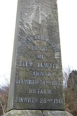 inscription (siaronj) Tags: cemetery grave graveyard carving singer obelisk poet gravestone welsh bard eisteddfod caernarfon bardic llanbeblig