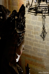 Santa Mara (Virgen del Coro). Iglesia de Santa Mara la Mayor (Montblanc) (Eva Ceprin) Tags: church silhouette madera iglesia silueta virginmary virgen montblanc imagen talla policromada nikond3100 tamron18270mmf3563diiivcpzd santamariadelamayor