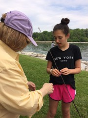 Fishing lessons from Ms. Campbell (KFiabane) Tags: annapolis sandypoint njhs