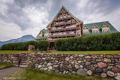 Approaching the Prince of Wales Hotel (Samantha Decker) Tags: canada ab wideangle alberta rockymountains hdr highdynamicrange waterton parkscanada canadianrockies uwa princeofwaleshotel watertonlakesnationalpark canonef1635mmf28liiusm canoneos6d samanthadecker