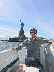 Grey rugby shirt (kent_wang) Tags: customer outfit newyork poloshirt rugbyshirt statueofliberty warwickb