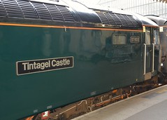 Class 57,  57603 'Tintagel Castle' Nameplate (Stuart Axe) Tags: nameplate class57 57603 paddington gwr locomotive loco nightriviera tintagelcastle brushtraction london paddingtonrailwaystation england uk unitedkingdom gb greatbritain