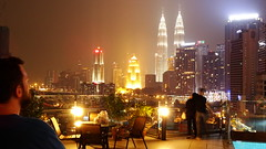 me and petronas (Raphael Lenzi) Tags: city me night buildings landscape petronas kualalumpur