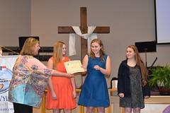 Elizabeth Hartley Presents CHS Interact Club Scholarship Award to Bonnie Wyatt