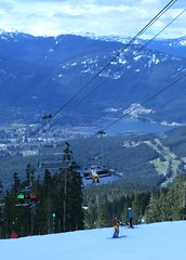 Wildlife in Whistler (Ruth and Dave) Tags: lake animal whistler costume chair skiing lift view skiresort valley slope greenchair skiers whistlerblackcomb emeraldchair