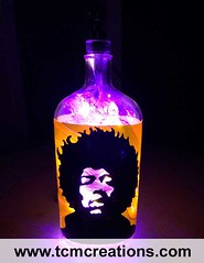 Jimi Hendrix (TCM Creations) Tags: love glass lamp bar bottle haze pub purple cinnamon hey vinyl whiskey joe led experience decal hendrix jimi axis fireball bold mancave