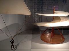 Leonardo's Parachute and Helicopter - Models (Phil Masters) Tags: london museum helicopter leonardo sciencemuseum parachute sciencemuseumlondon leonardodavinci leonardosparachute 5thapril april2016 leonardodavincimodel leonardomodel leonardoshelicopter