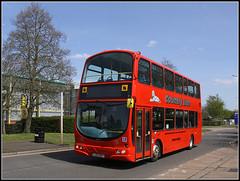 LJ03 MGY (Jason 87030) Tags: camera school red bus canon eos northampton shot transport northamptonshire may picture fave views arrive amateur gemini bizarre northants rd doubledecker independant 2016 brackmills lj03mgy kilveyroad