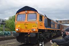GB Railfreight 66763 Severn Valley Railway (Midland Red FanBoy) Tags: travel england train trains transportation severnvalleyrailway kidderminster passengertrains gbrailfreight severnvalleyrailwayspringdieselgala