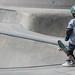 Tiny Skateboarder - Venice Beach Skate Plaza, Venice, CA