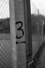 3 (Man with Red Eyes) Tags: 3 monochrome analog 35mm three blackwhite lancashire number tennis preston broughton leicam2 100iso underline homedeveloped adox silverhalide v850 td201 unnecessaryunderline silvermax anchelltroop a3minb3min silvermaxadox continuousagitation distagont1435zm
