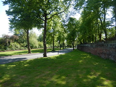 Castle Drive and citywalls, 2016 May 23 (Dunnock_D) Tags: road uk trees england green grass unitedkingdom britain chester citywalls walls castledrive