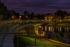 Torrens River Viewing Point. (johnwilliamson4) Tags: water clouds reflections landscape outdoor australia adelaide southaustralia torrensriver longexposurefootbridge