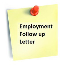 Employment Follow up Letter (lettersfree) Tags: up employment follow example sample letter
