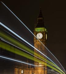 Westminster Light trails (Gnome Girl!) Tags: uk nightphotography england london clock night bigben motionblur lighttrails westminsterbridge lightstreams