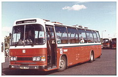 Trent Dual Purpose Coach 117. (ManOfYorkshire) Tags: 117 rrb117r loughborough derby bus coach station 1984 dual purpose grant style doors folding leyland leopard duple dominant route101 service